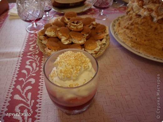 Мой День рождения. Торт своими руками. Наполнение: ягодная прослойка, заварной крем. Украшение: крошка с дробленым жареным орехом, взбитые сливки  и какао порошок.  фото 3