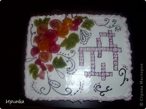 Вот такой тортик делала для любимого папули, любителя кроссвордов!