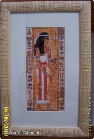 Эту картину я вышивала для одной моей знакомой, она любительница всего в египетском стиле...