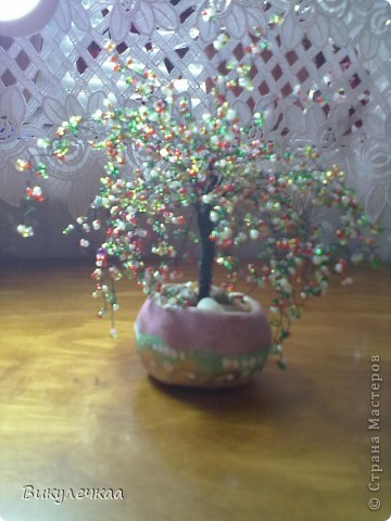 дерево из бисера ВОЛШЕБНАЯ ВИШНЯ фото 1