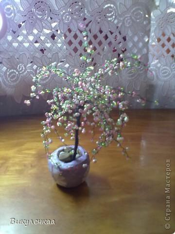 дерево из бисера ВОЛШЕБНАЯ ВИШНЯ фото 2