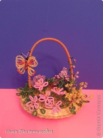 Корзинка с цветами. фото 2