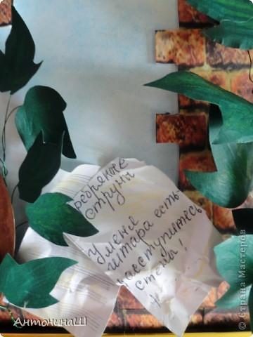 """Две картины на конкурс памяти Влвдимира Высоцкого, организованный Мишей и Юлей Дмитренко- Деспоташвили. Решила принять настойчивое приглашение Миши и Юли на участие в конкурсе.Сама я об этом и не думала. Не откладывая в долгий ящик, переделала свою """" Забытую гитару"""" , а вторая работа появилась сама собой. Первая работа на песню"""" Серебряные струны"""" : У меня гитара есть, расступитесь стены... фото 2"""