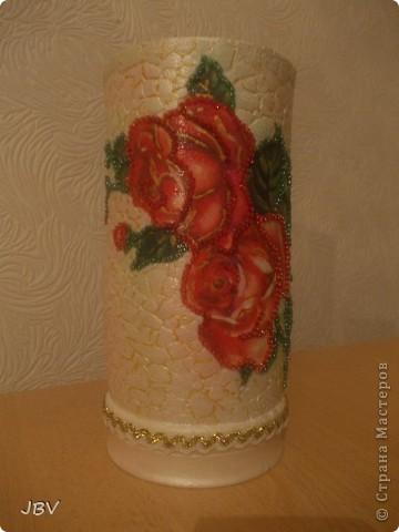 Доброе утро, Страна! Хочу показать вам вазу, которую сделала для подруги ко Дню рождения... фото 1