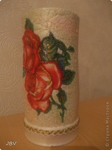 Доброе утро, Страна! Хочу показать вам вазу, которую сделала для подруги ко Дню рождения... фото 2