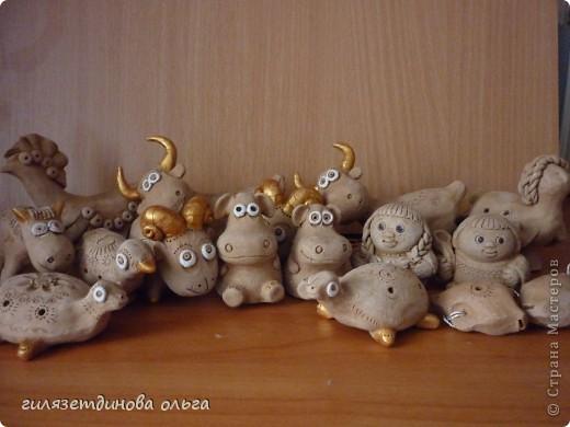 Глиняные игрушки-свистульки фото 2
