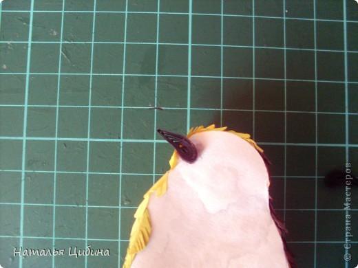 """Приветик всем!!! После того, как я выставила свою работу с птичками """"В саду!"""" http://stranamasterov.ru/node/381704, ко мне многие мастерицы обратились с просьбой сделать МК. Вот сегодня я выставляю свой МК.  фото 23"""