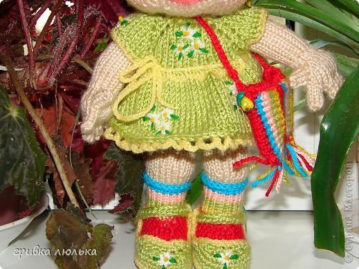 Подружка попросила куколку с длинными волосиками,в результате связалась такая девочка ,Пеппилоточка. фото 5