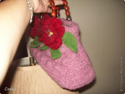 Решила связать ещё одну сумочку. Последнее время увлеклась вывязыванием цветов. фото 3