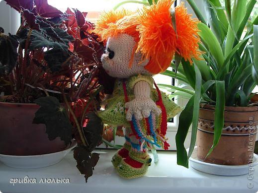 Подружка попросила куколку с длинными волосиками,в результате связалась такая девочка ,Пеппилоточка. фото 6