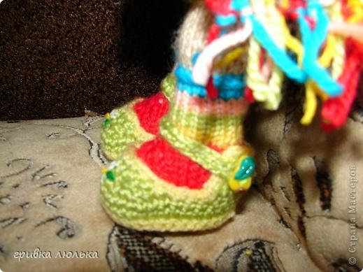 Подружка попросила куколку с длинными волосиками,в результате связалась такая девочка ,Пеппилоточка. фото 8
