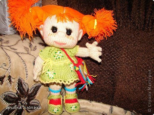 Подружка попросила куколку с длинными волосиками,в результате связалась такая девочка ,Пеппилоточка. фото 9