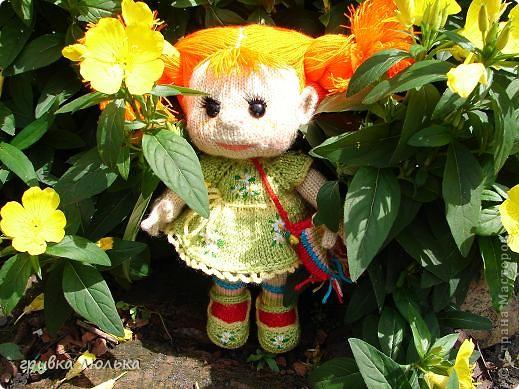 Подружка попросила куколку с длинными волосиками,в результате связалась такая девочка ,Пеппилоточка. фото 1