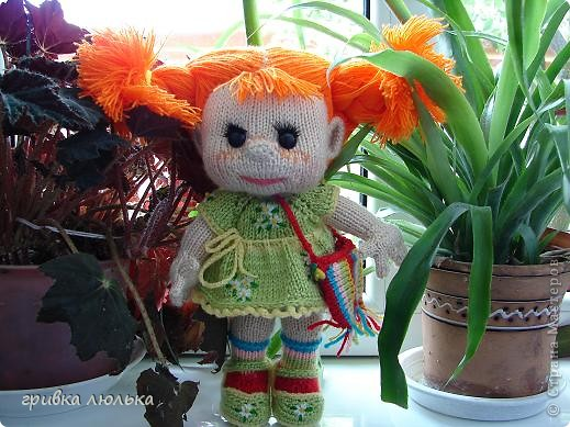 Подружка попросила куколку с длинными волосиками,в результате связалась такая девочка ,Пеппилоточка. фото 3