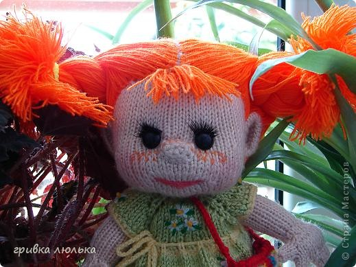 Подружка попросила куколку с длинными волосиками,в результате связалась такая девочка ,Пеппилоточка. фото 4