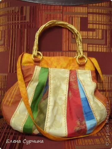 """Нашла на сайте """"Бурда"""" замечательную витражную сумку и решила пошить себе такую. фото 1"""