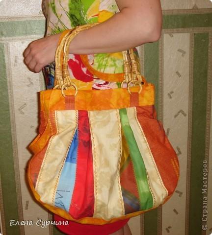 """Нашла на сайте """"Бурда"""" замечательную витражную сумку и решила пошить себе такую. фото 2"""