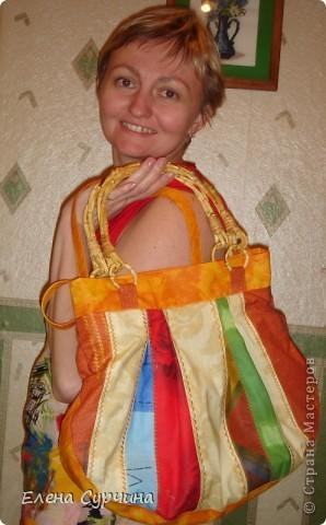 """Нашла на сайте """"Бурда"""" замечательную витражную сумку и решила пошить себе такую. фото 3"""