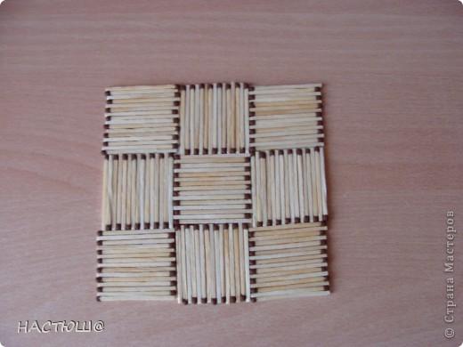 Вот такое панно  можно сделать из спичек. фото 4