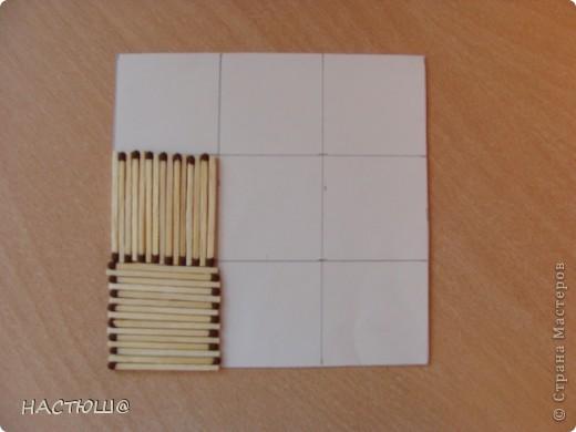 Вот такое панно  можно сделать из спичек. фото 3