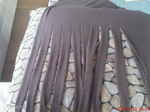 Вот такой небольшой коврик у меня получился. Ушло на него 6метров ткани при ширине 150см. фото 3