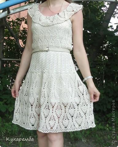 """Это платье вяжут на """"осинках"""" онлайн : http://club.osinka.ru/viewtopic.php?t=38635 фото 1"""