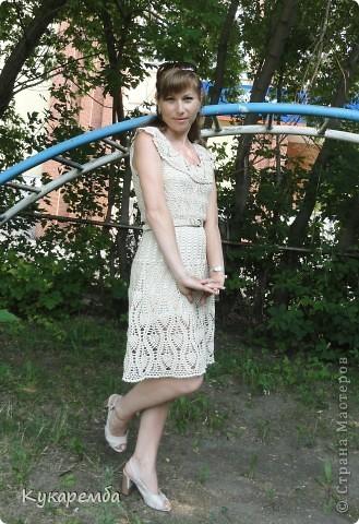 """Это платье вяжут на """"осинках"""" онлайн : http://club.osinka.ru/viewtopic.php?t=38635 фото 3"""