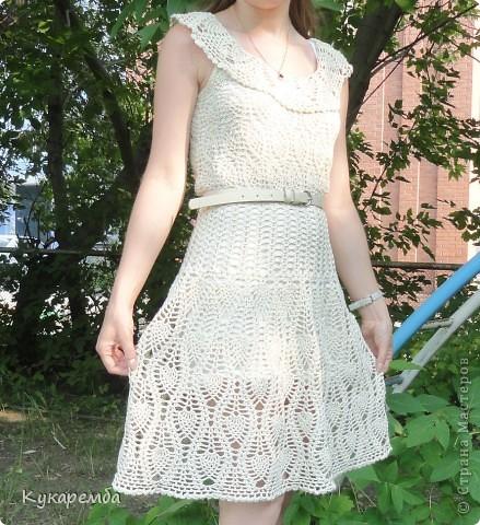 """Это платье вяжут на """"осинках"""" онлайн : http://club.osinka.ru/viewtopic.php?t=38635 фото 2"""