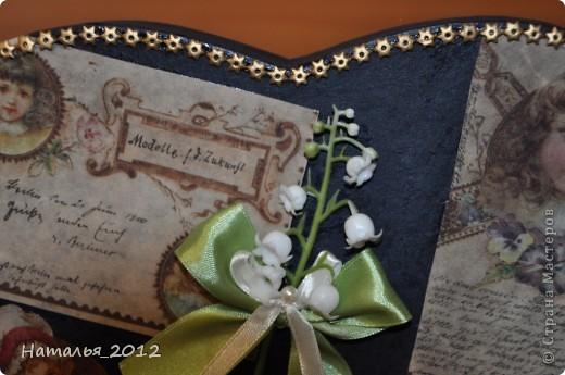 Шкатулка в подарок для племянницы. Была простая коробка из-под чайной пары, стала - шкатулка для заколочек. фото 6