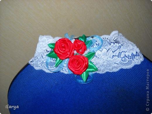 Самая простая, быстрая и красивая рукодельная вещь хоть для своей пока еще лысенькой принцессы, хоть в подарок- повязочки. Разного фасона , цвета, в разных техниках. Наша первая повязочка, связанная из ириса, на пол-годика: фото 7