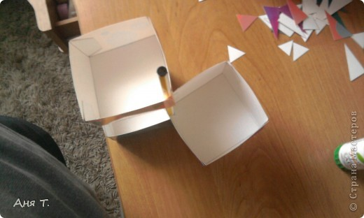 Вот она,3-х этажная шкатулка из картона. фото 21