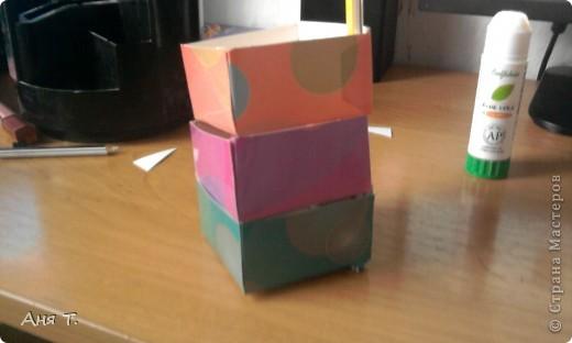 Вот она,3-х этажная шкатулка из картона. фото 22