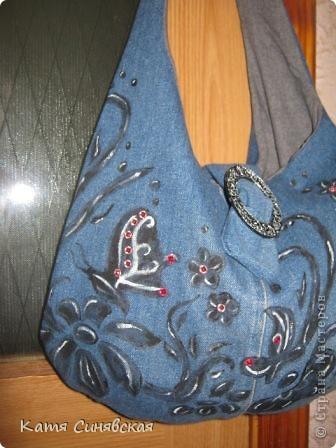 Мастер-класс Шитьё Сумка из джинс летняя Ткань фото 3