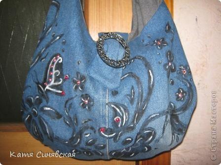 Мастер-класс Шитьё Сумка из джинс летняя Ткань фото 2