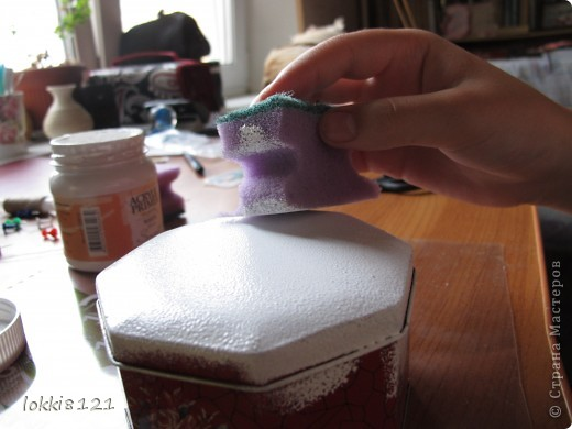 Сделала себе подарок в честь отличного закрытия сессии! :) Отдекорировала шкатулку самой красивой салфеткой фото 4