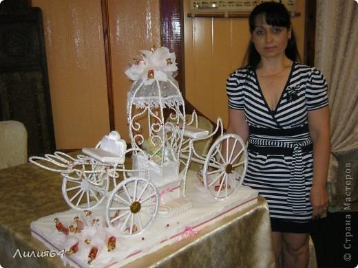 Моя  первая  карета.Сейчас  начала  делать  вторую. Очень  понравилась  у  Натальи  Ивановой, решила  скопировать. Вот  что  получилось. фото 4