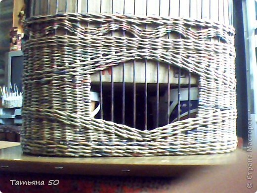 Вот такой кошкин дом сплела для двух котов(не моих) фото 5