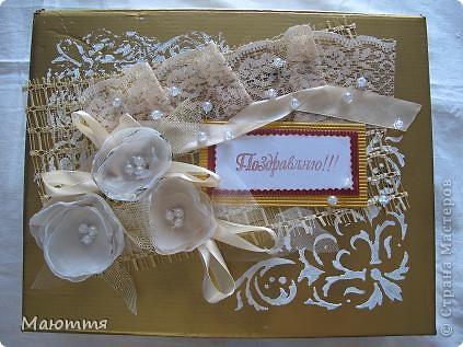 Сделали мы с вами фотоальбом в подарок на свадьбу http://stranamasterov.ru/node/383215 . А в чем дарить? В покупном пакете? ну неееет!  делаем для него коробку фото 1