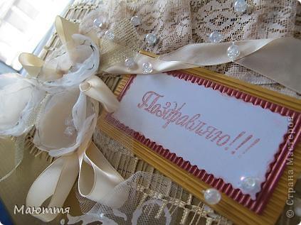 Сделали мы с вами фотоальбом в подарок на свадьбу http://stranamasterov.ru/node/383215 . А в чем дарить? В покупном пакете? ну неееет!  делаем для него коробку фото 12