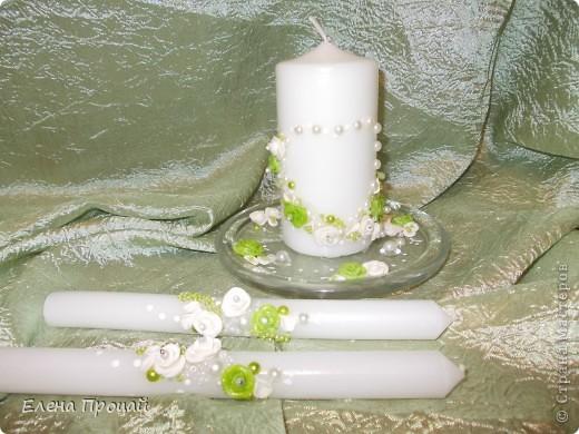 Большое спасибо мастерицам сайта, которые поделились опытом! Без Вас я бы не справилась!   невеста попросила в бело-зелёном цвете и никаких бантов. вот что получилось. фото 5