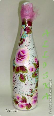 Роспись акриловыми красками плоской кистью и круглой кистью, в технике одного мазка. фото 3