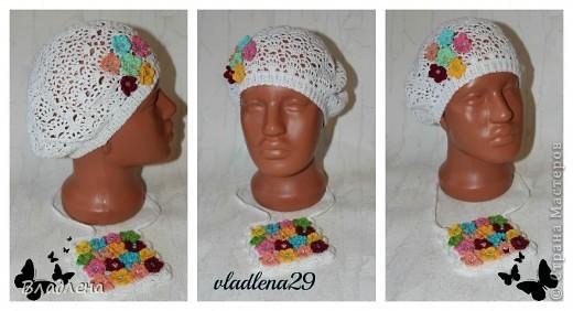 Вот такие новенькие шапочки и панамочки связались у меня на заказ для девочек.  фото 5