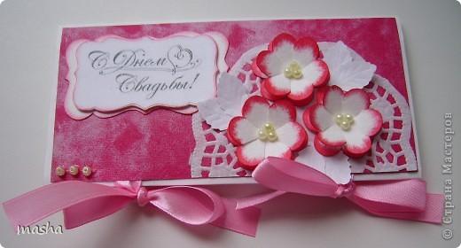 Коробочка, внутри будет конвертик и открыточка- мы с мужем будем поздравлять молодых. фото 6