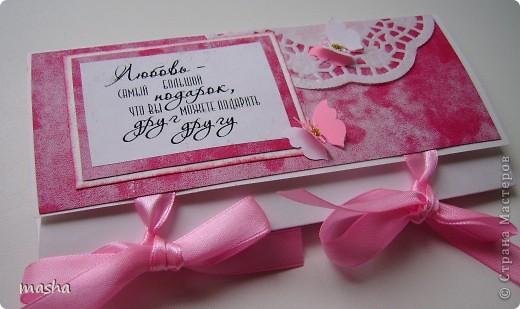 Коробочка, внутри будет конвертик и открыточка- мы с мужем будем поздравлять молодых. фото 7