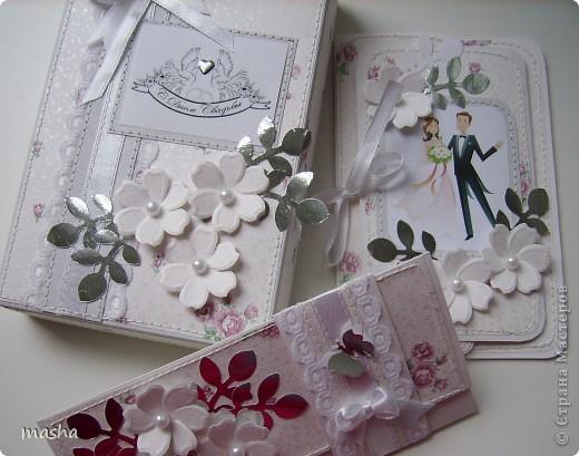 Коробочка, внутри будет конвертик и открыточка- мы с мужем будем поздравлять молодых. фото 1