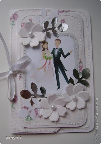 Коробочка, внутри будет конвертик и открыточка- мы с мужем будем поздравлять молодых. фото 4