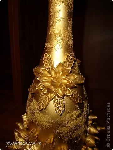 Макаронами украсила бутылочки на подарки!!! фото 8