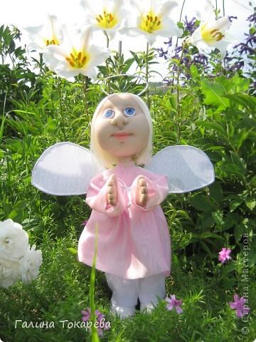 попросили сделать ангелочка-девочку и непременно в розовом платьице! фото 2