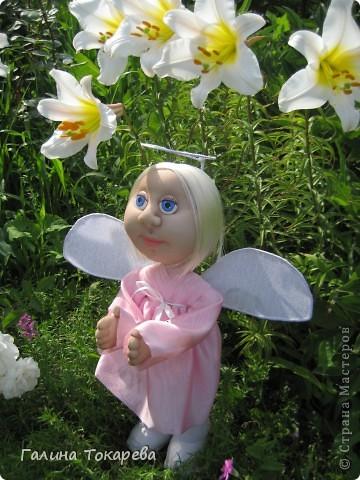 попросили сделать ангелочка-девочку и непременно в розовом платьице! фото 3