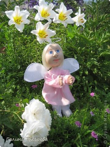 попросили сделать ангелочка-девочку и непременно в розовом платьице! фото 4